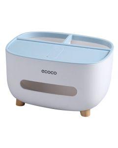 ECOCO βάση για χαρτομάντηλα και αντικείμενα E2009, 21x16x12cm, μπλε E2009 id: 40130