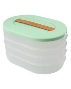 ECOCO Δοχείο τροφίμων E2019, 4 επιπέδων, πράσινο E2019 id: 40134