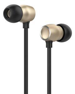 CELEBRAT earphones με μικρόφωνο G10, 10mm, 3.5mm, 1.2m, χρυσά G10-GD id: 34546