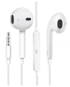 USAMS earphones με μικρόφωνο EP-22, 3.5mm, 14mm, 1.2m, λευκά HSEP2201 id: 33208