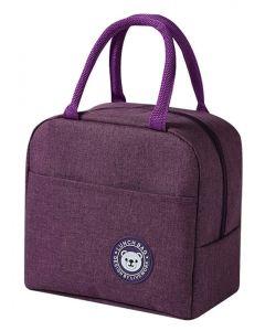 Ισοθερμική τσάντα HUH-0011, 7L, αδιάβροχη, 23x13x21cm, μωβ HUH-0011 id: 42680