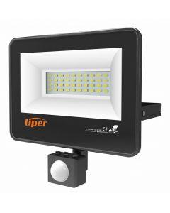 LIPER LED προβολέας LPFL-20BS01-G 20W με αισθητήρα κίνησης, IP65, 220V LPFL-20BS01-G id: 35959