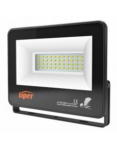 LIPER LED προβολέας LPFL-50BS01 50W, 4000K, 4000lm, IP66, 220V, μαύρος LPFL-50BS01 id: 35943