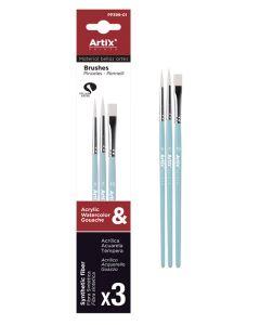 ARTIX PAINTS σετ πινέλων ζωγραφικής PP399-01, μπλε, 3τμχ PP399-01 id: 42041