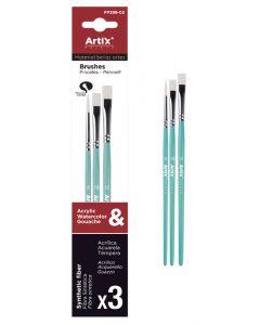 ARTIX PAINTS σετ πινέλων ζωγραφικής PP399-03, πράσινο, 3τμχ PP399-03 id: 42042