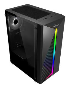 POWERTECH Gaming case PT-848, tempered glass, 80mm fan, PSU 500W PT-864 PT-848 id: 34917