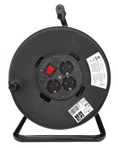 POWERTECH μπαλαντέζα με βάση PT-899, 3x schuko, 16A, 25m, μαύρη PT-899 id: 36694