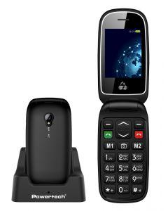 POWERTECH Κινητό Τηλέφωνο Sentry Global PTM-19, SOS Call, φακός, μαύρο PTM-19 id: 33121