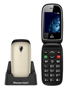 POWERTECH Κινητό Τηλέφωνο Sentry Global PTM-20, SOS Call, φακός, χρυσό PTM-20 id: 33122