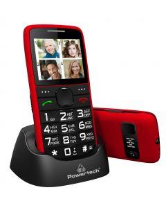 POWERTECH Κινητό Τηλέφωνο Sentry Eco PTM-25, SOS Call, με φακό, κόκκινο PTM-25 id: 36914