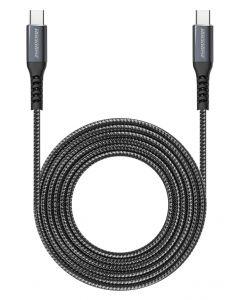 ROCKROSE καλώδιο USB Type-C Powerline CC2, 3A 60W, 2m, μαύρο-μπλε RRCS07CC2 id: 36459