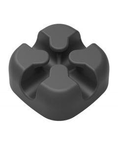 POWERTECH οργανωτής καλωδίων σιλικόνης TIES-028, 2 καλωδίων, μαύρο, 5τμχ TIES-028 id: 31806