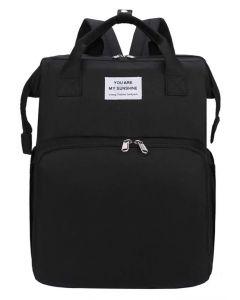 2 in 1 τσάντα πλάτης και παιδικό κρεβατάκι TMV-0048, αδιάβροχη, μαύρη TMV-0048 id: 38241