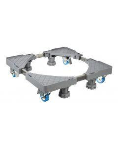 Βάση λευκών συσκευών TOOL-0035 με ρόδες, ρυθμιζόμενη, max 400kg, γκρι TOOL-0035 id: 33197