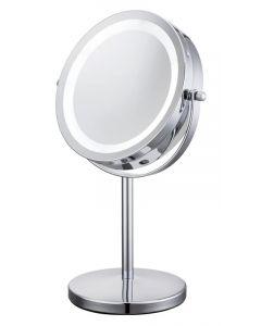 Καθρέφτης δύο όψεων TOOL-0041, με φωτισμό LED, 10x zoom, ασημί TOOL-0041 id: 32909