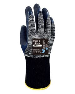 WONDER GRIP αντιολισθητικά γάντια εργασίας Rock & Stone, 9/L, γκρι WG-333-9L id: 36547