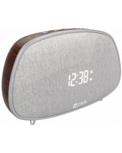 YISON ξυπνητήρι WS-1, bluetooth 5.0, 2x 5W, ένδειξη ώρας, AM/FM, ασημί WS-1-CF id: 34553
