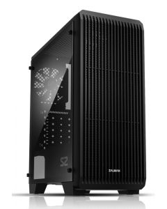 ZALMAN PC case S2, mid tower, 412x189x451mm, 1x fan, διάφανο πλαϊνό ZM-S2 id: 31221