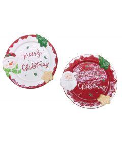 Διακοσμητική στρογγυλή πιατέλα merry Christmas 28cm [00001432] - AGC
