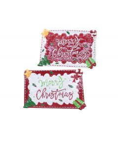 Διακοσμητική παραλληλόγραμμη πιατέλα merry Christmas 29,5cm [00001433] - AGC