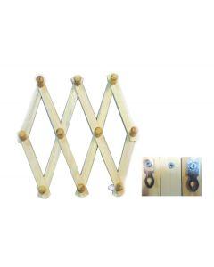 Κρεμάστρα τοίχου ξύλινη πτυσσώμενη 44,5 x 126 εκ. [00501055] - AGC