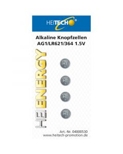 Heitech 04000530 Αλκαλικές μπαταρίες 4 τμχ LR621 19710-0008