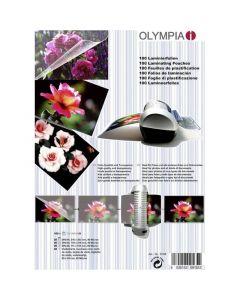 Olympia 9165 Φύλλα πλαστικοποίησης για Α4 Α5 Α6 και επαγγελματικές κάρτες 100 τμχ 14549-0201