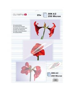 Olympia 9174 Φύλλα πλαστικοποίησης για Α3 σε κουτί 80 microns 50 τμχ 14549-0037