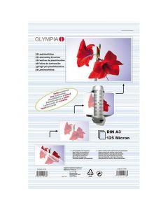 Olympia 9175 Φύλλα πλαστικοποίησης για Α3 σε κουτί 125 microns 50 τμχ 14549-0038