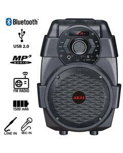 Akai ABTS-806 Φορητό ηχείο Bluetooth με USB, Aux-In και είσοδο μικροφώνου – 10 W 110582-0003