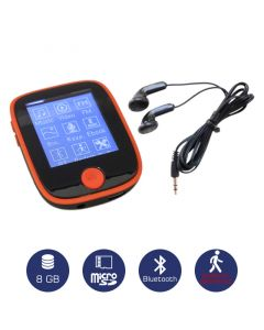 Osio SRM-8680R Mp3 / video player με Bluetooth και βηματομετρητή 8 GB 19585-8681