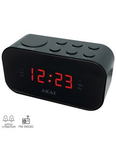 Akai ACR-3088 Ψηφιακό ξυπνητήρι με ραδιόφωνο και διπλή αφύπνιση 1105221-0008