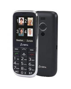 Olympia JOY II Black GR (Ελληνικό Μενού) Κινητό τηλέφωνο για ηλικιωμένους με κουμπί SOS, κάμερα και Bluetooth 110687-0018