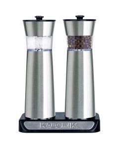 Kalorik PSGR 2000 RI Σετ ηλεκτρικοί επαναφορτιζόμενοι μύλοι πιπεριού και αλατιού με αισθητήρα λειτουργίας 196196-0019
