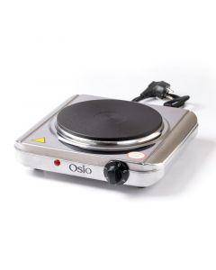 Osio OHP-2418 Μονή ηλεκτρική εστία κουζίνας inox 18.5 cm με θερμοστάτη 1500 W 1120194-0002