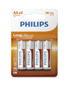 Philips R6L4B/10 Μπαταρίες μεγάλης διάρκειας ζωής Zinc-Chloride 4 τμχ AA 115010-0008