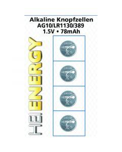 Heitech 04000535 Αλκαλικές μπαταρίες 4 τμχ AG10 / LR1130 / 389 1.5 V 19710-0054