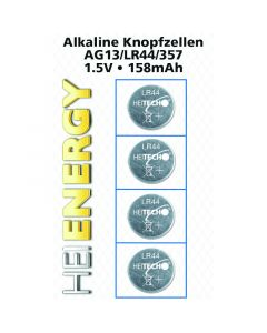 Heitech 04000537 Αλκαλικές μπαταρίες 4 τμχ AG13 / LR44 / 357 1.5 V 19710-0055