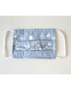 Osio OFM-3209BD Υφασμάτινη μάσκα προστασίας προσώπου γαλάζια με σχέδια 100506-0019