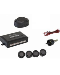 Osio OSP-235 Μαύρο Ματ Αισθητήρες παρκαρίσματος με 4 αισθητήρες 18 mm και buzzer 12512-2359
