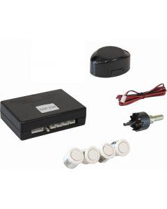 Osio OSP-235 Λευκό Αισθητήρες παρκαρίσματος με 4 αισθητήρες 18 mm και buzzer 12512-2353