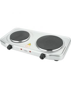 Osio OHP-2218 Διπλή ηλεκτρική εστία κουζίνας inox με θερμοστάτη 15.5 cm – 18.5 cm 2500 W - 1120194-0003