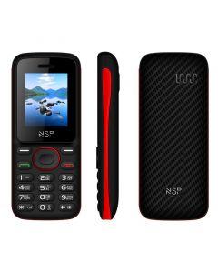 NSP 1800DS BLACK / RED (Ελληνικό Μενού) Κινητό τηλέφωνο Dual SIM με Bluetooth και οθόνη 1.8″ - 15187-0002