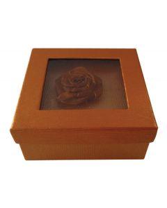 Τετράγωνο χάρτινο καφέ κουτί με λουλούδι [11401142] - AGC