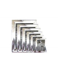 Πλαστική κορνίζα ασημί επιτραπέζια 9x13cm [10401096] - AGC