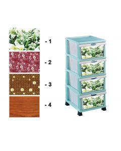 Πλαστική συρταριέρα χρωματιστή 37 x 46 x 87 εκ. με 4 συρτάρια [70609037] - Comfort Time