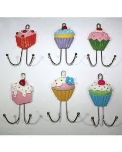Μεταλλική κρεμάστρα Cupcake με 2 γαντζάκια [70603231] - Due Esse