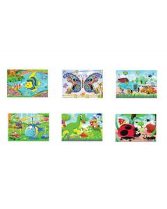 Καρτέλα παζλ με παιδικά αυτοκόλλητα 21x32 cm [10501579] - AGC