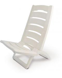 Καρεκλάκι Παραλίας Πλαστικό Λευκό - 12770