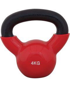 Kettlebell με επένδυση Βινυλίου 4kg (κόκκινο) - 44504